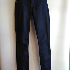 Rich and skinny dark denim jeans